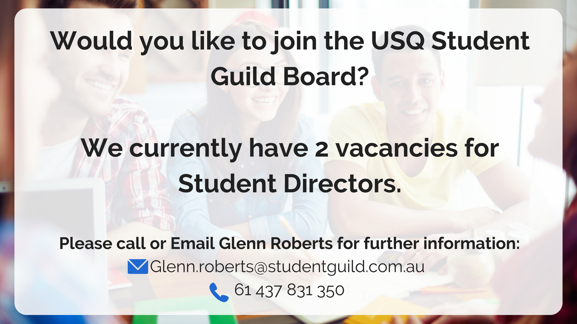 Would you like to join the USQ Student Guild Board_